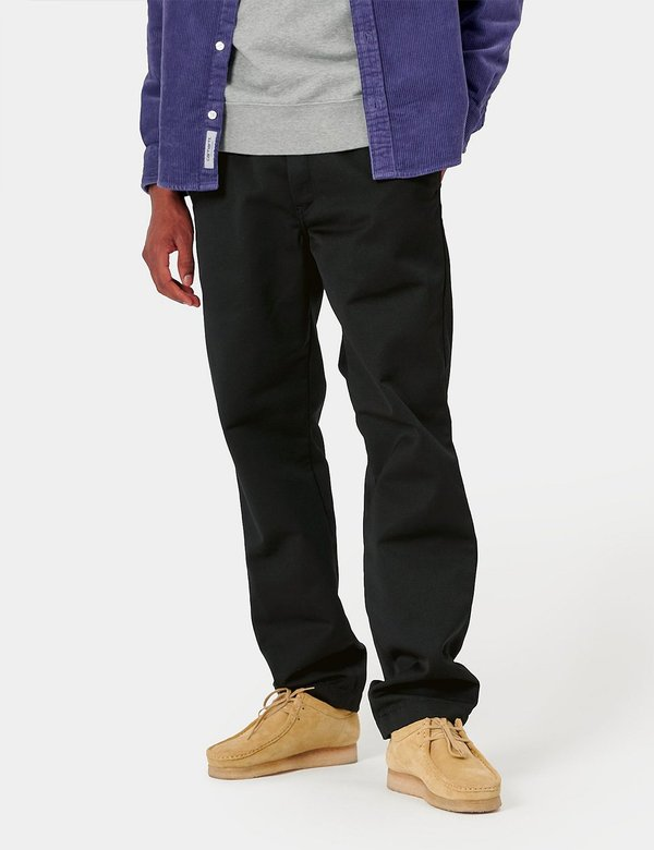 Carhartt-WIP Master Pant (Denison Twill, 8.8 oz) - Black rinsed