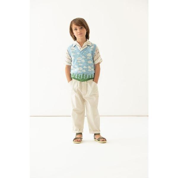 kids paade mode cotton vest - clouds multicolor
