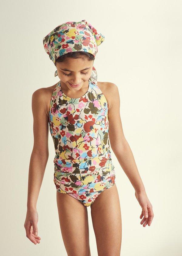 kids Caramel Gruppy Swimsuit - Painted Flower