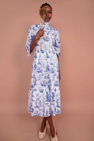 Meadows Clematis Dress - Toile De Jouy