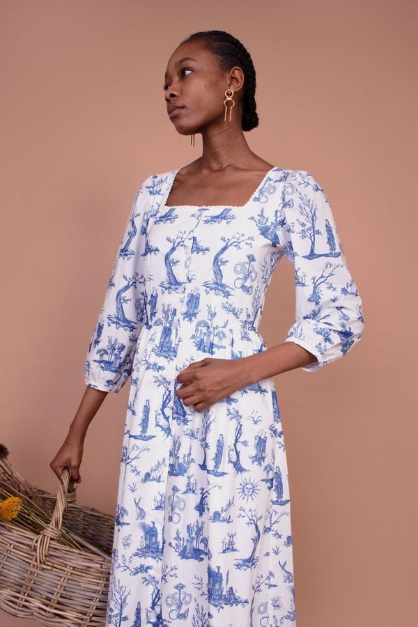 Meadows Ixora Dress - Toile De Jouy