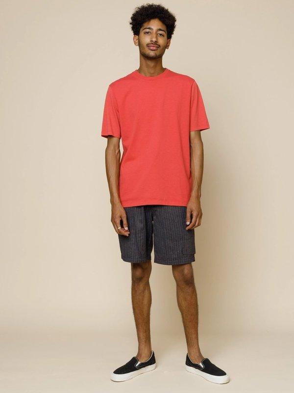 Folk Clothing Folk Contrast Sleeve T-Shirt - Radish