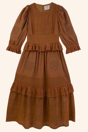 Meadows Pineapple Dress - Terracotta