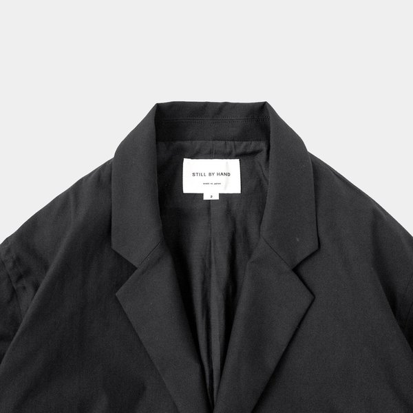 Still By Hand Relaxed 2 Button Jacket - Black