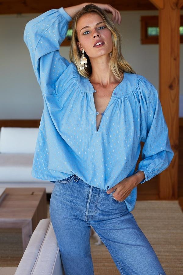 Emerson Fry Olympia Shirt - Powder Blue