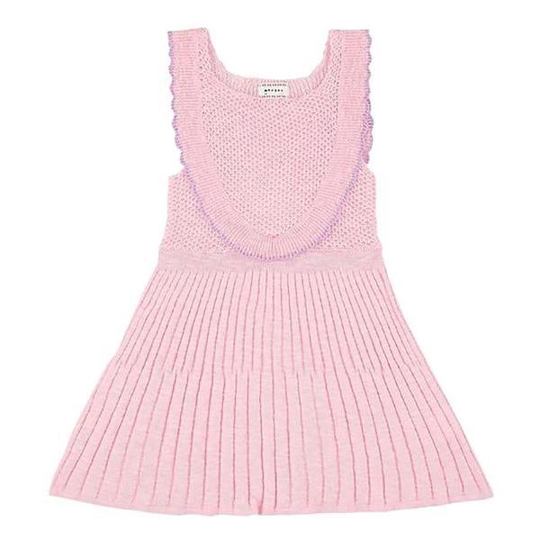 Kids Morley Nanna Knit Dress - Cricket Rose Pink