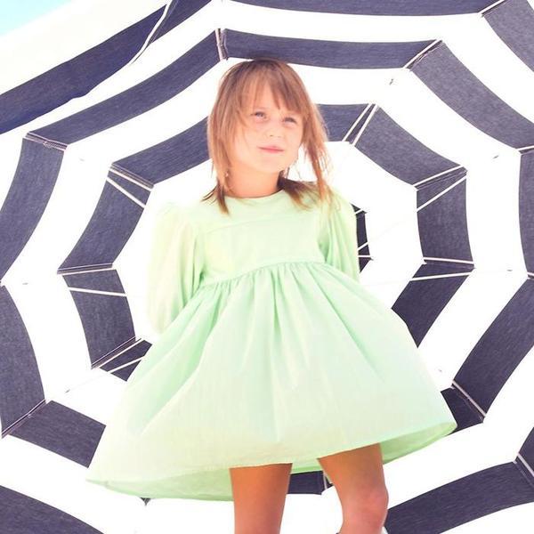Kids Morley Noa Dress - Pisang Spring Green