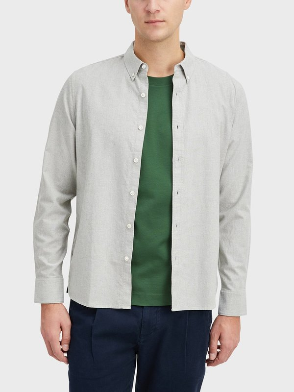 O.N.S Fulton Pinpoint Oxford Shirt - Olive Green Heather
