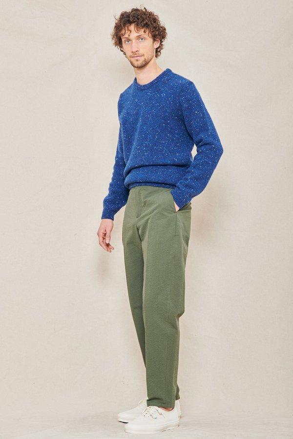 A Kind of Guise Onin Wool Crewneck - BLUE MELANGE
