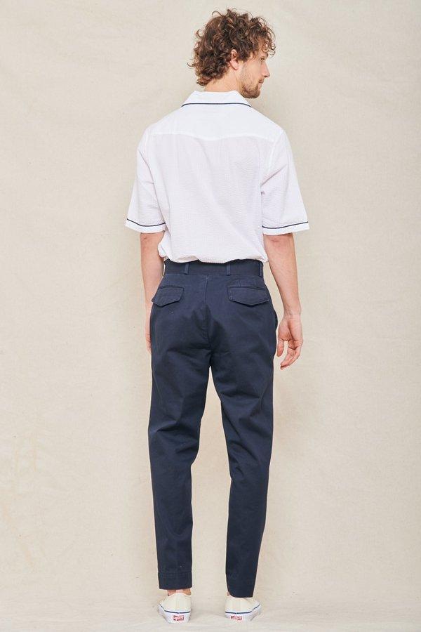 Officine Generale Owen Straight-leg Trousers - NAVY