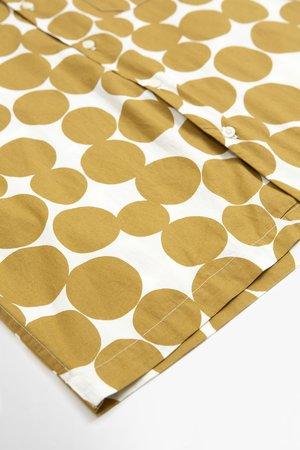 Universal Works Road dot print poplin shirt - gold