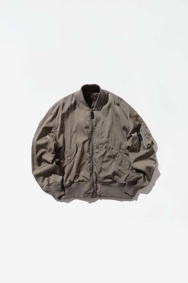 Beams Plus Satin Flight Jacket - Sage