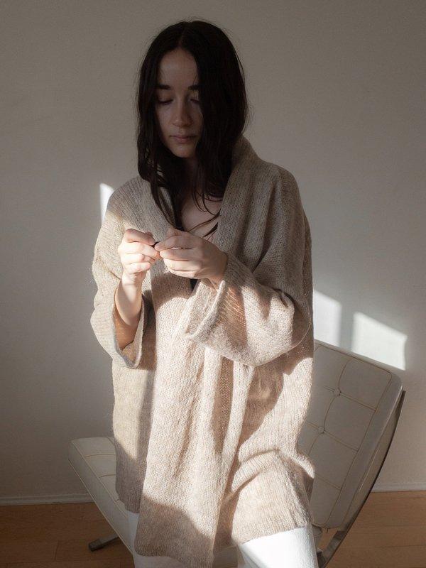 Atelier Delphine Haori Lightweight Coat - Grain