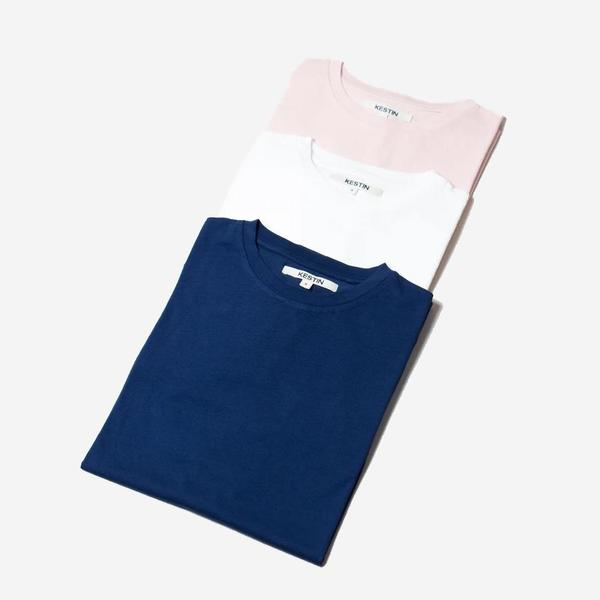 Kestin Fly Crew Neck Jersey T-Shirt - Navy
