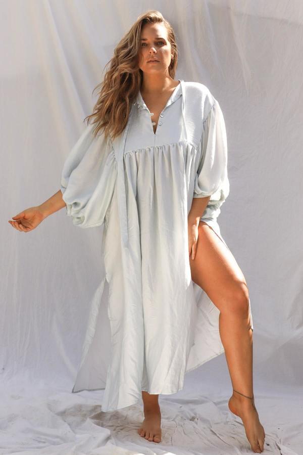 Metallic Medellin Dress - Silver Moon