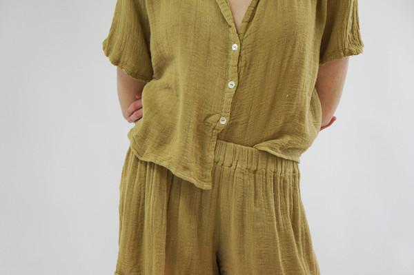 Jen's Pirate Booty Tafni Pajama Set - Olive