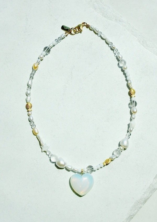 NOTTE Summer Love Pearly Necklace - pearls/24k plated