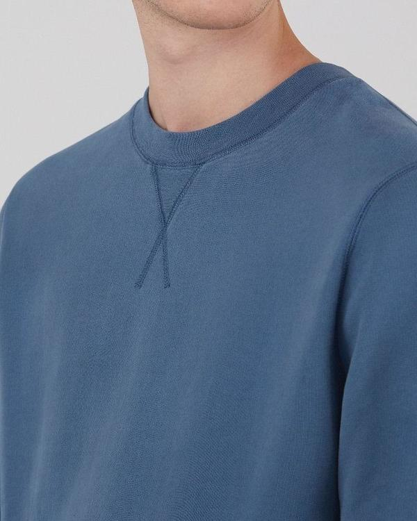 Sunspel Cotton loopback sweatshirt - smoke blue