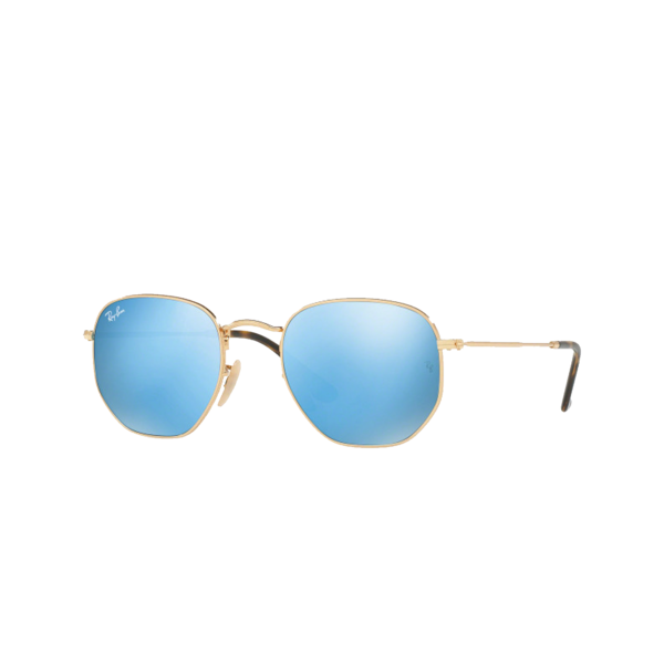 Ray-Ban Hexagonal Arista 0RB3548N-001/9O eyewear - Blue/Gold