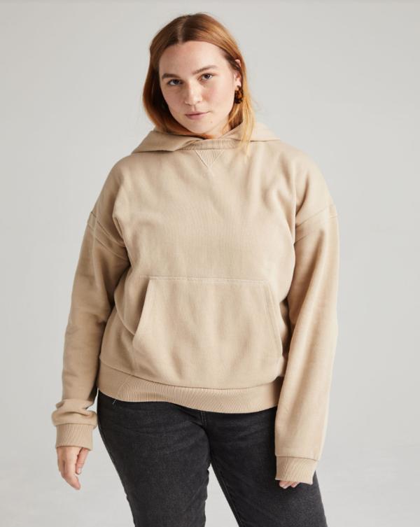 Richer Poorer Recycled Fleece Hoodie sweater - Sandstorm