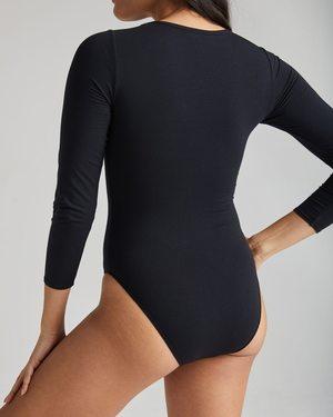 Richer Poorer Scoop Neck Bodysuit - Black