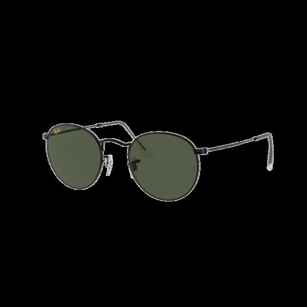 Ray Ban Round Metal 0RB3447-919931 eyewear - Black/Green