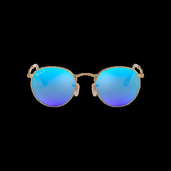 UNISEX Ray-Ban Round Metal Matte Arista 0RB3447-112/4L eyewear - Blue Gradient/Gold