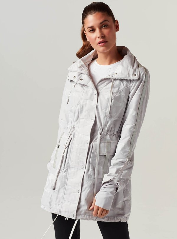 Blanc Noir Camo Anorak coat - white
