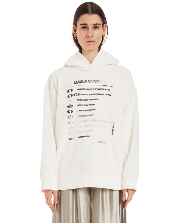 MM6 Maison Margiela Print Sweatshirt - white
