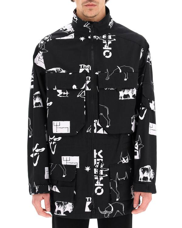 Kenzo Symbol Print Parka coat - Black