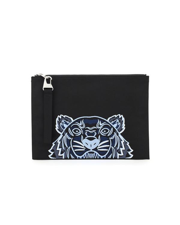 Kenzo Document Tiger Clutch - Black