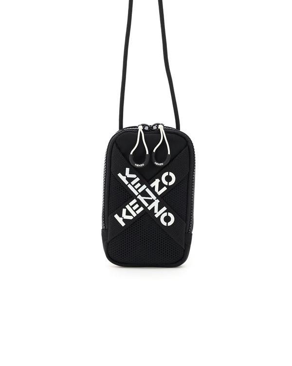 Kenzo Phone Holder Cross Logo bag - Black