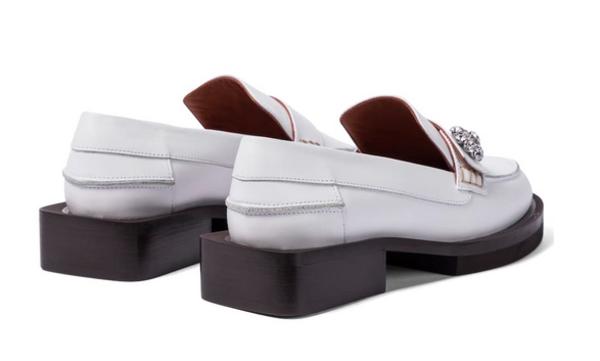 Ganni Jewel Mocassin shoes - white