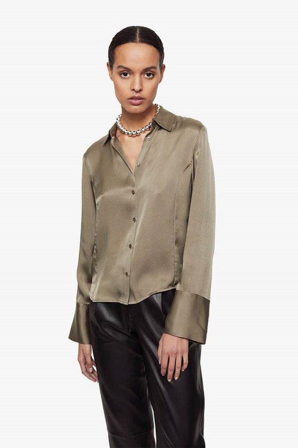 Anine Bing Mackenzie Top - Green Khaki