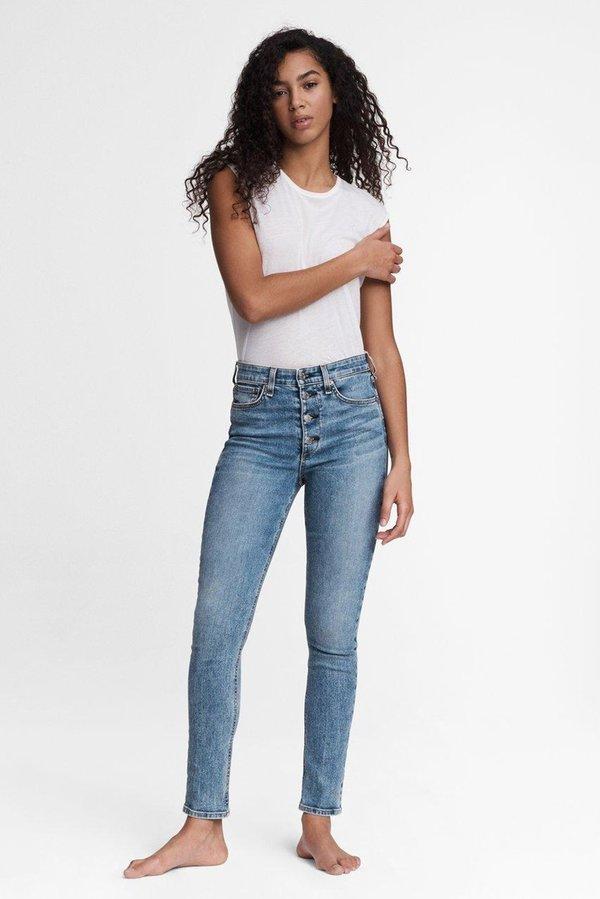 Rag & Bone Nina High Rise Skinny Jeans - Blue