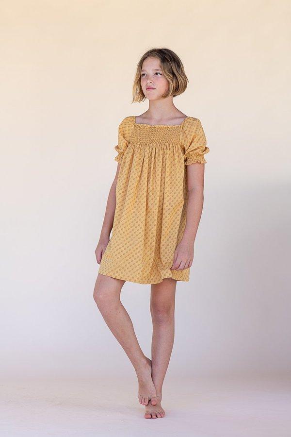 kids The New Society Babydoll Dress - Yellow Flower