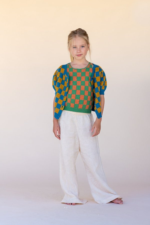 kids The New Society Linen Pant - Beige
