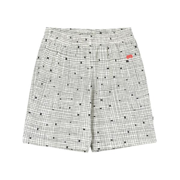 Beau Loves Grid Shorts - Natural