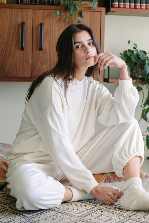 Rachel Pally Hemp Sweater Rib Tatum Pant - Ivory