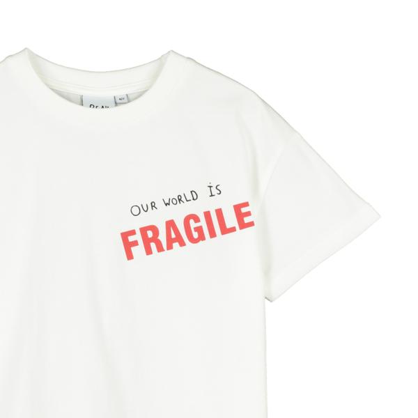 kids Beau Loves Our World Is Fragile T-Shirt - White