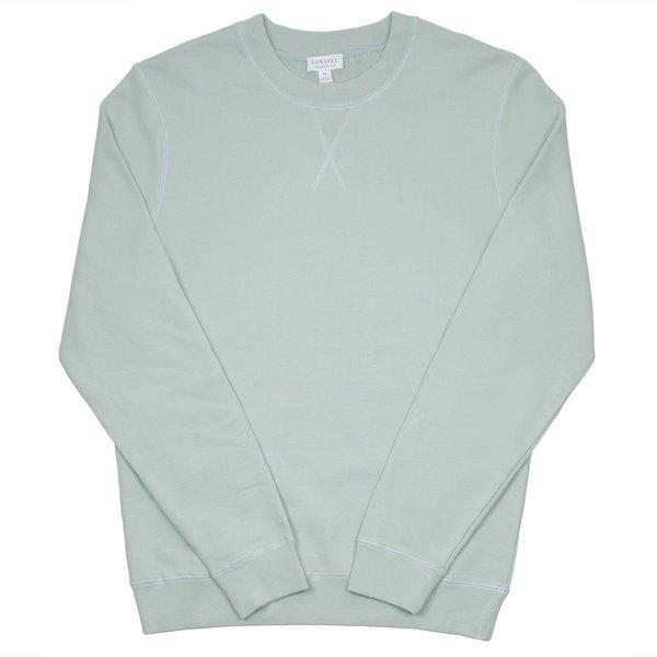 Sunspel Lopback Sweatshirt - Dusky Green