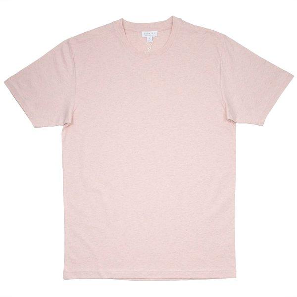 Sunspel Short Sleeve Riviera Crew Neck T-shirt - Dusty Pink