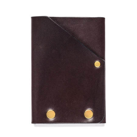 American Bench Craft Brass Riveted Leather Front Pocket Wallet