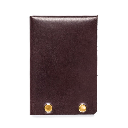 American Bench Craft Brass Riveted Leather Half Wallet