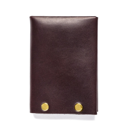 American Bench Craft Brass Riveted Leather Wallet