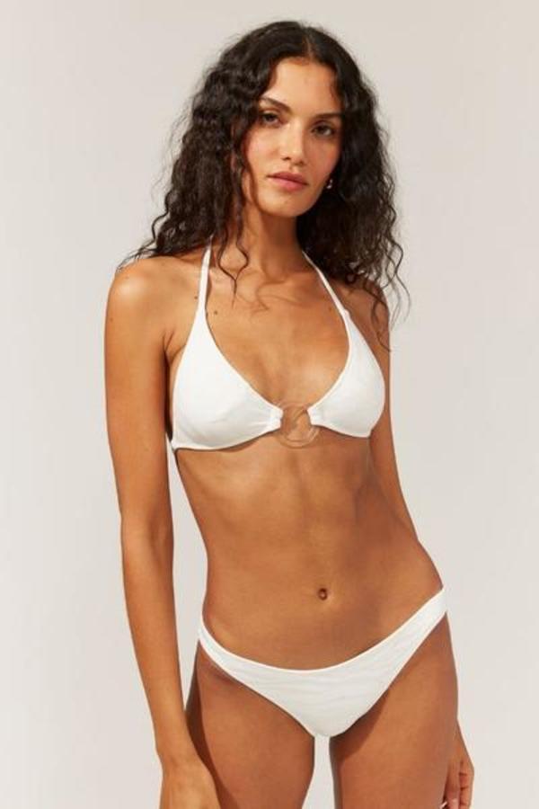 Solid & Striped Sadie Bikini Bottom - Marshmallow Wave