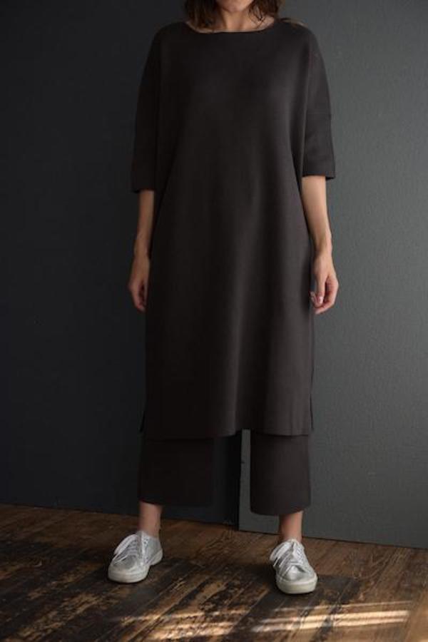 Lauren Manoogian Interlock Wide Tee Dress - Carbon