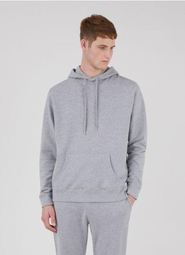 S-SUNSPEL LOOPBACK OVERHEAD HOODY - GREY MELANGE