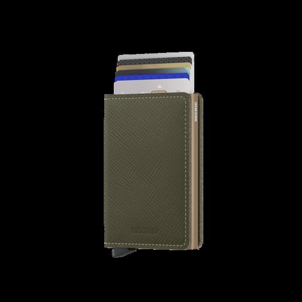 SECRID Slim Wallet - Saffiano Olive