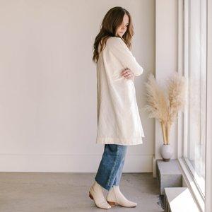 Uzi NYC Coarse Cotton Box Dress - Cream